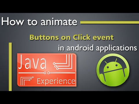 How to animate buttons on click in Android
