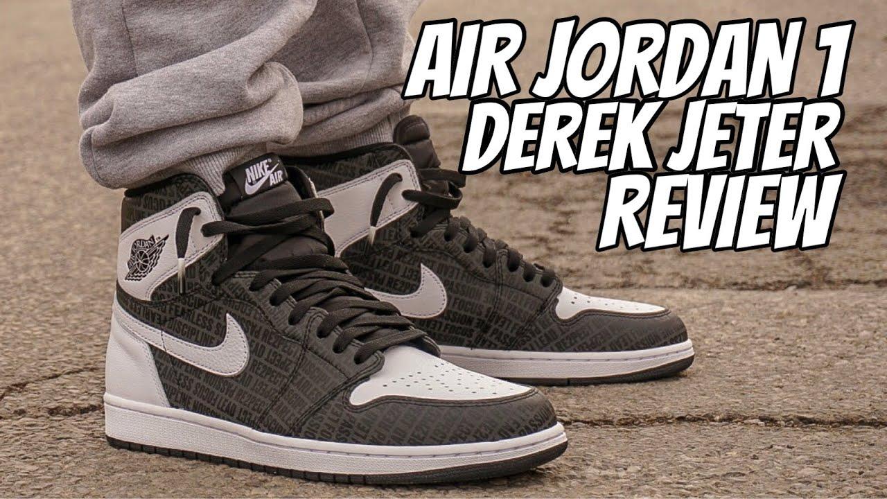 57f63d49ee5 AIR JORDAN 1 DEREK JETER REVIEW!!! - YouTube