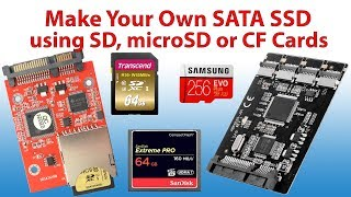 Make your own SATA SSD from SD or CF Cards. Boot Windows 10 from SD card.