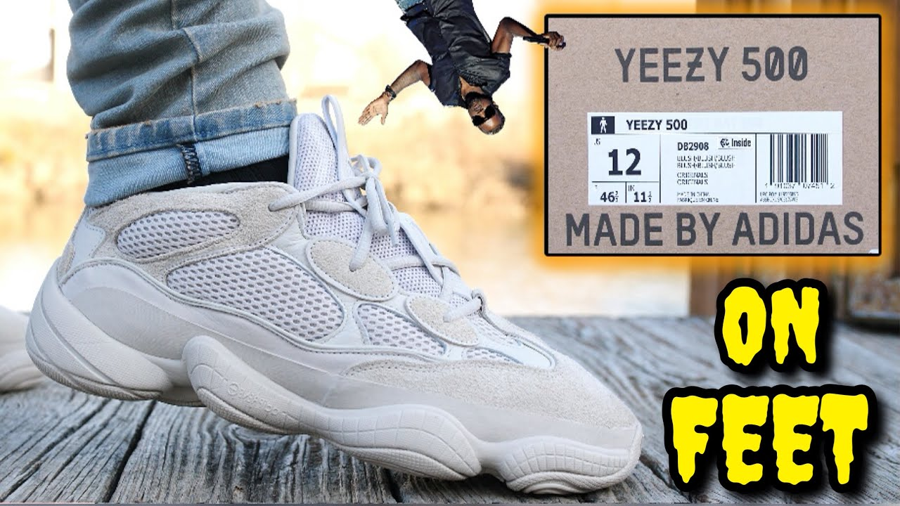 the latest b7b98 d65f5 ADIDAS YEEZY 500 BLUSH REVIEW & ON FEET! Watch BEFORE You Buy!