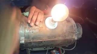 ac motor düşük rpm jeneratör ac serbest enerji ev yapımı jeneratör  çalışma