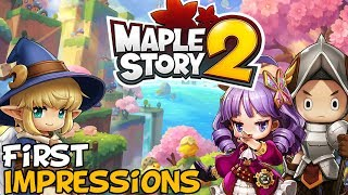 MapleStory 2 First Impressions