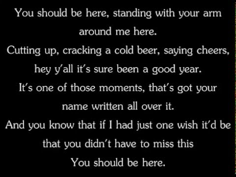 Cole Swindell  You Should Be Here Lyrics