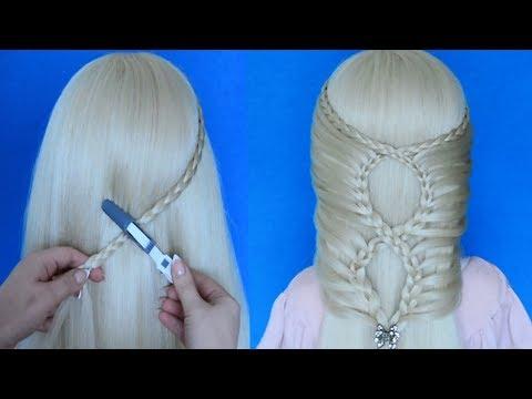 Простая и красивая прическа пошагово! Прическа с плетением на длинные и средние волосы.