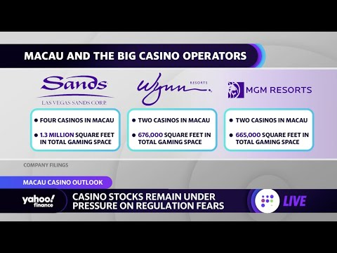 Casino stocks under pressure as China looks to reset the gaming landscape in Macau: