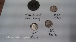 1896 British Penny and SILVER in the Hole
