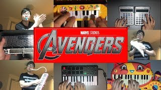AVENGERS THEME ON FUNNY INSTRUMENTS