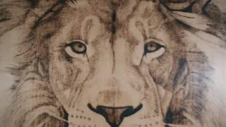 Lion by Artstruktor ( woodburning )