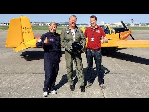 Flydagen Sola 2016 - premieflyging i Saab Safir