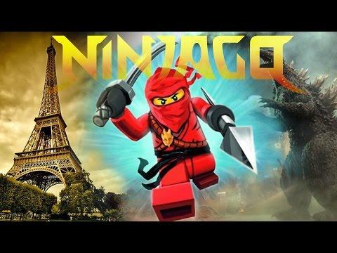 LEGO : Ninjago saves Paris from Godzilla and insect : Ninjago спасает Париж от Годзиллы и насекомых