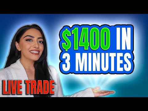$1,400 IN 3 MINUTES TRADING $TSLA OPTIONS – LIVE TRADING