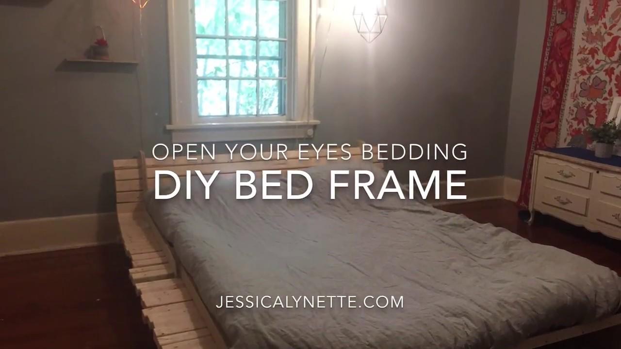 diy minimalist bed frame youtube. Black Bedroom Furniture Sets. Home Design Ideas