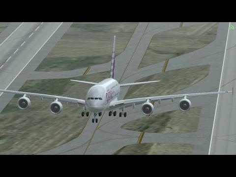 Infinite Flight Online Multiplayer. QATAR AIRWAYS Airbus A380-800 . HAPPY JOURNEY.