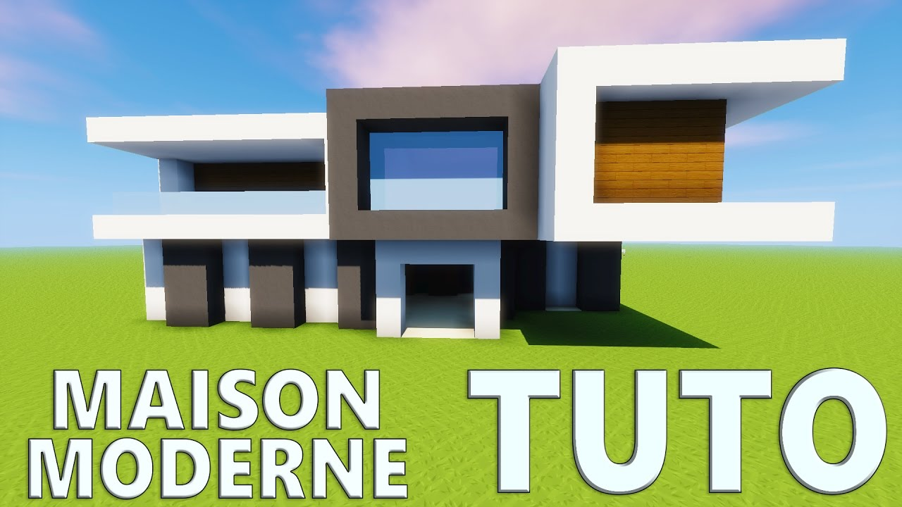 Tuto maison moderne minecraft youtube for Plan maison minecraft moderne