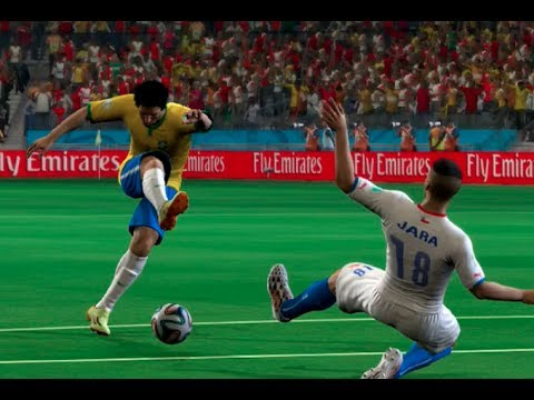 FIFA World Cup 2014: Brazil vs Chile (Round Of 16) Simulation (EA FIFA World Cup 2014 Brazil)