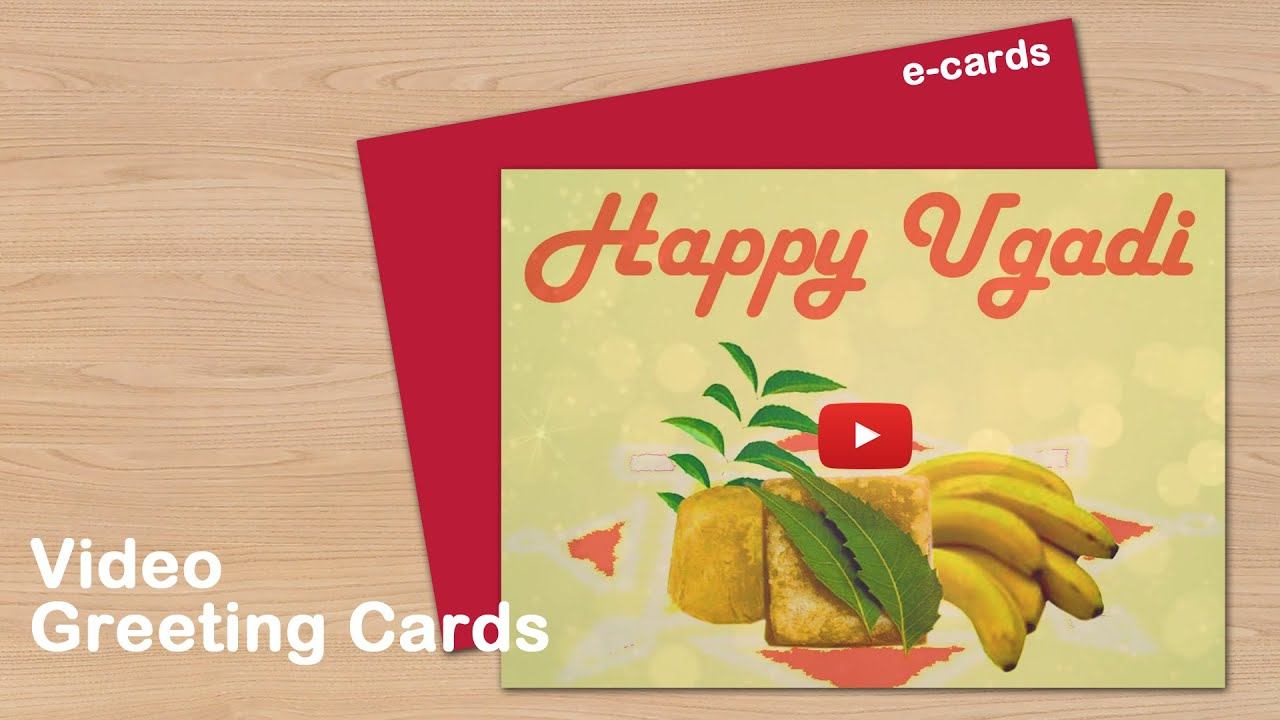 Happy Ugadi Video Greeting Cards Youtube