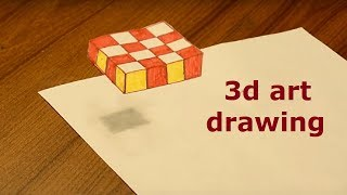 how to draw 3d cube drawing art ideas for kids with pencil Awesome LifeHack