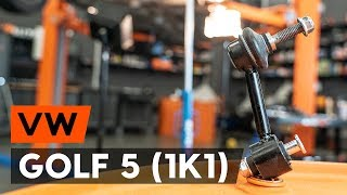 Hvordan bytte bak stabilisatorstag / bak lenkearm der på VW GOLF 5 (1K1) [AUTODOC-VIDEOLEKSJONER]