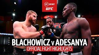 Jan Blachowicz v Israel Adesanya | UFC 259 Fight Highlights