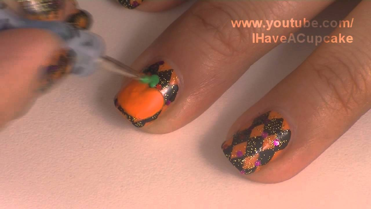Halloween Nails - *Jack-O-Lantern* Halloween Nail Art - YouTube