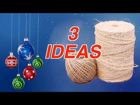 3 Ideas of DIY Christmas Decorations from Jute Art and Craft Handicraft