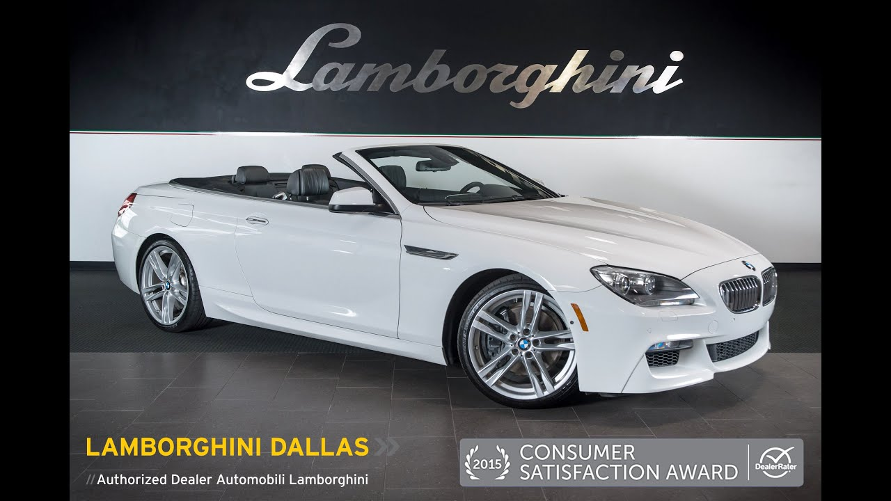 2012 Bmw 650i Convertible Gloss White Lt0776 Youtube