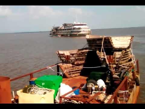 видео: буксир тонет под лайнером