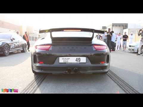 Porsche 991 GT3 launch control @ SimonMotorSport Dubai