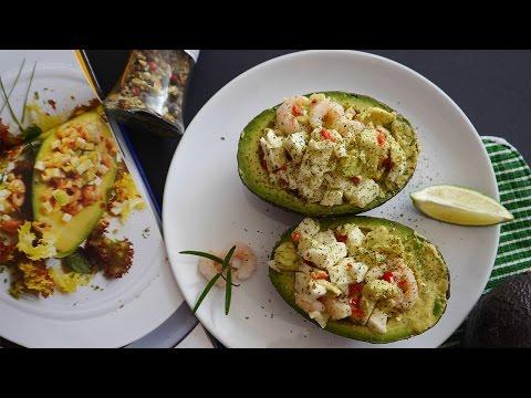 Оригинальныый салат с креветками и авокадо! Красиво, вкусно, легко! Необычный салат