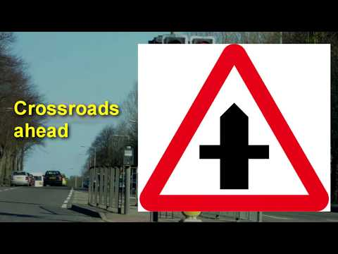 UK Highway Code Warning Signs for driving test theory exam