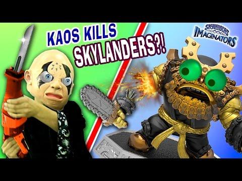 CRAZY KAOS DESTROYS SKYLANDERS! Sawing Toys in Half! Wave 4 Pikachu? Crave Clobber & Easter Toys