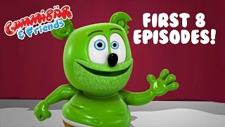 Gummy Bear Show First 8 Episodes = Incredible Shrinking Gummy/The Contest/Macaroni Plant and more!