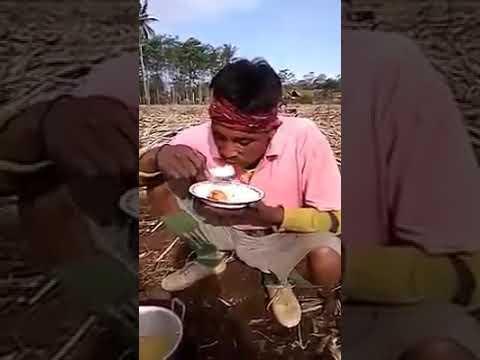 Orang kesurupan makan nasi