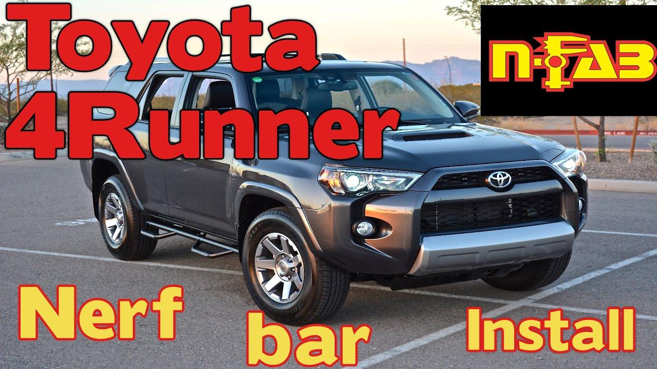 Nfab Running Boards >> N-Fab Nerf Bars - 2016 Toyota 4runner Trail - T1464R - YouTube