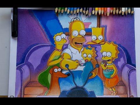 Como Dibujar Y Pintar A La Familia Simpson Paso A Paso