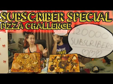 120000 SUBSCRIBERS SPECIAL!!! PIZZA CHALLENGE... ЛОШО МИ Е