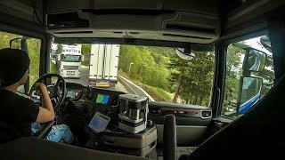 CV Driving Scania S520 - Trouble passing eachother on a narrow road in Norway