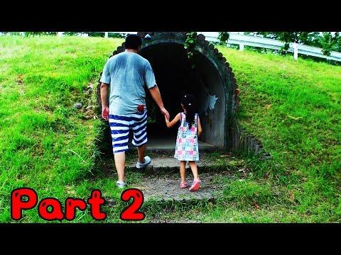 ●普段遊び●トリムの森!アスレチックで遊びましたPart2♪謎のトンネル!?まーちゃん【5歳】おーちゃん【2歳】