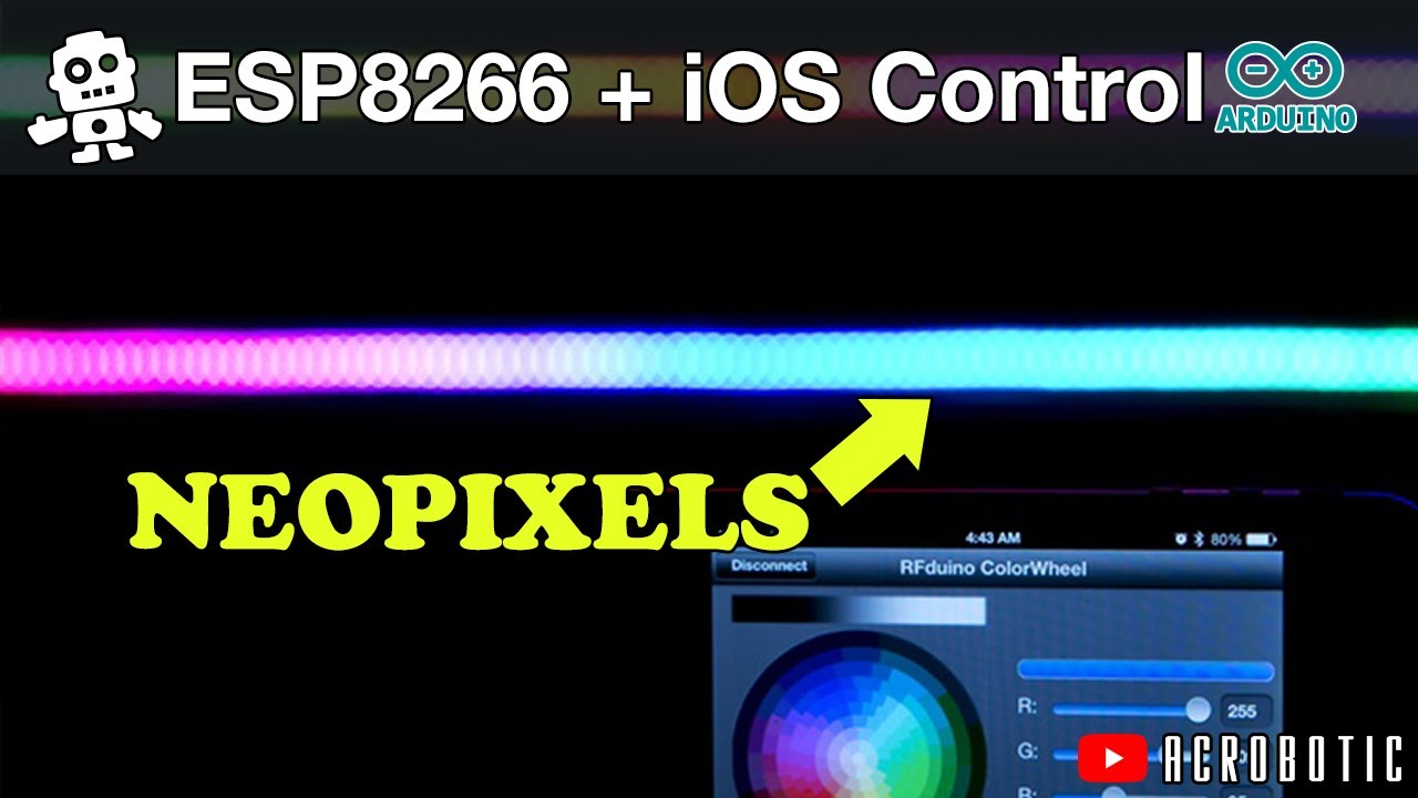 Esp control neopixels from ios using arduino and xcode