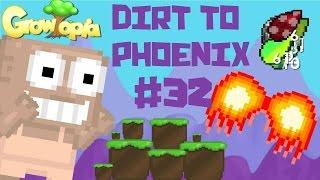 Growtopia - Dirt To Phoenix #32 | BUILDING A STASH!!