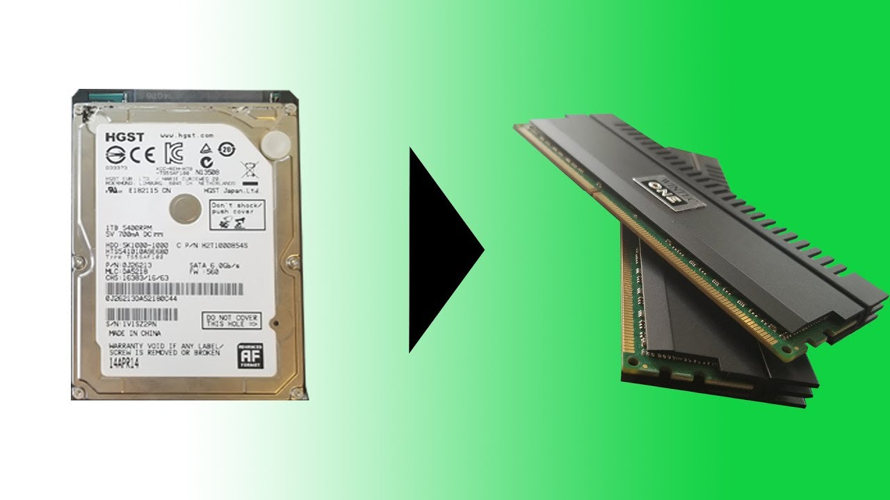 How To Convert Hard Drive Space Into More Ram Youtube