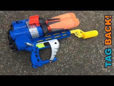 Vintage NERF 1999 Triple Strike - The PERFECT Shotgun Pistol? || TAG BACK!