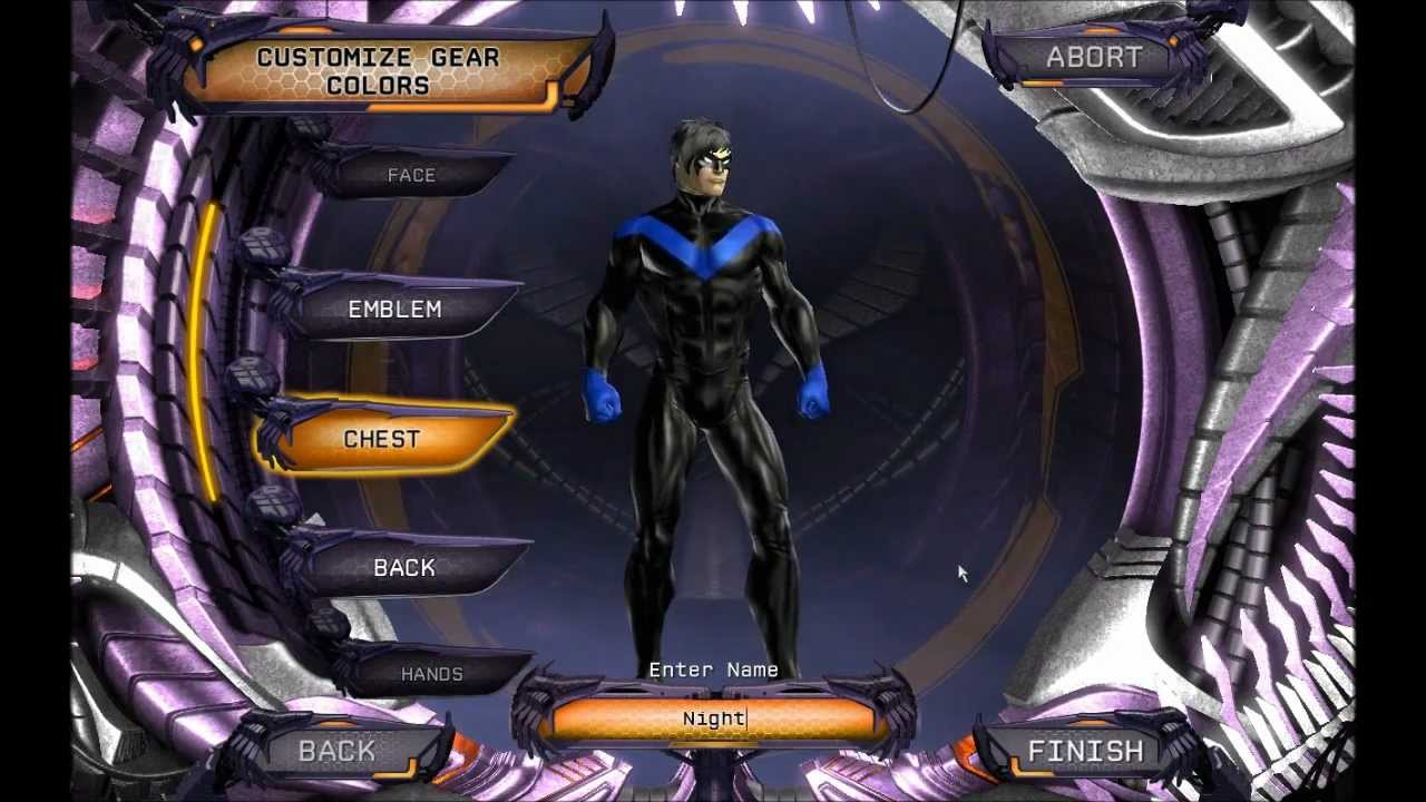 Dc Universe Online Character Creation Nightwing Youtube