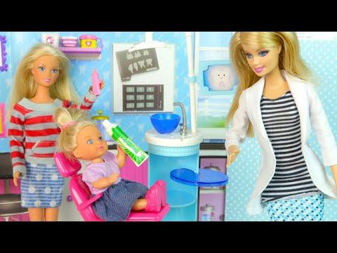 Первая Пломба Эви  Мультик для детей Барби Стоматолог Куклы Игрушки Для девочек IkuklaTV