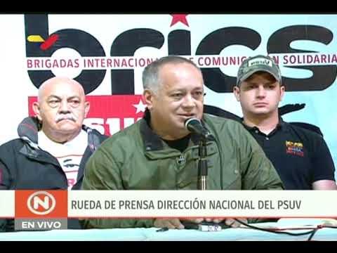 Diosdado Cabello, rueda de prensa del PSUV ante golpe de Estado contra Evo Morales