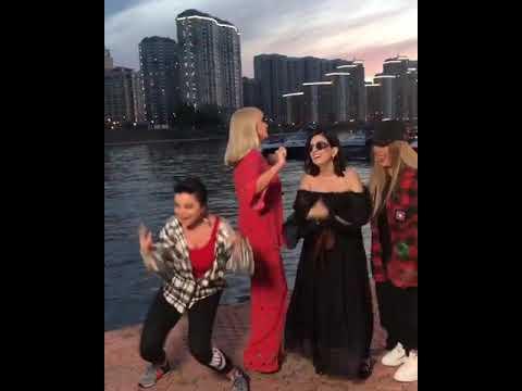 Наташа Королёва, Диана Гурцкая, Анита Цой на съёмках нового клипа
