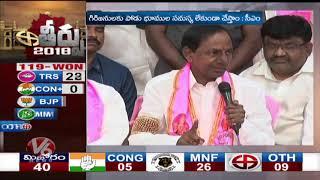 CM KCR Speech Highlights | KCR Press Meet After TRS Victory In TS Assembly Polls 2018 | V6 News