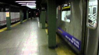 IRT Manhattan Bound (2) and (4) train at Nevins Street [HD]