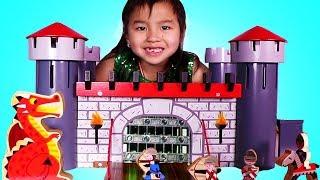 珍妮建造玩具城堡