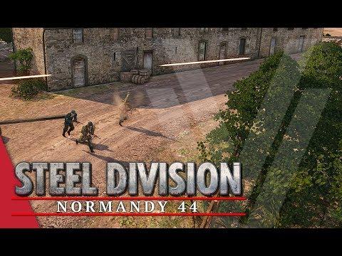 Panzerschrecked! Steel Division: Normandy 44 Gameplay (Caumont l'Éventé, 3v3)